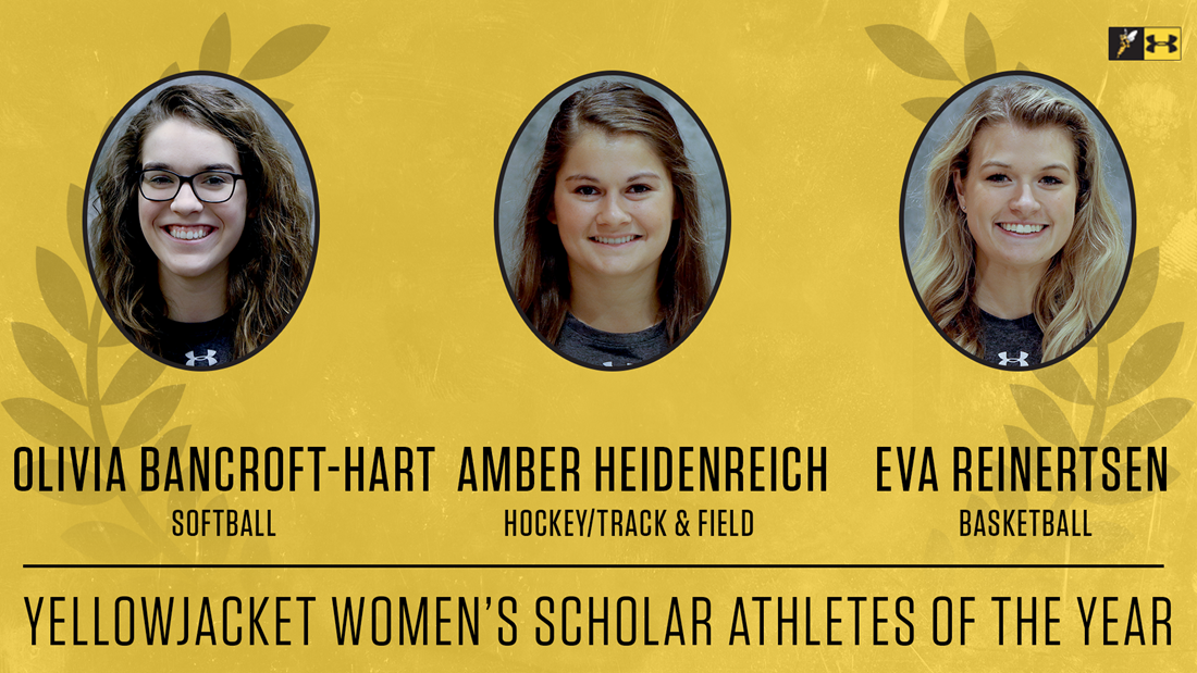 Yellowjacket Awards: Bancroft-Hart, Heidenreich, Reinertsen are 2019-20 Women's Scholar Athletes