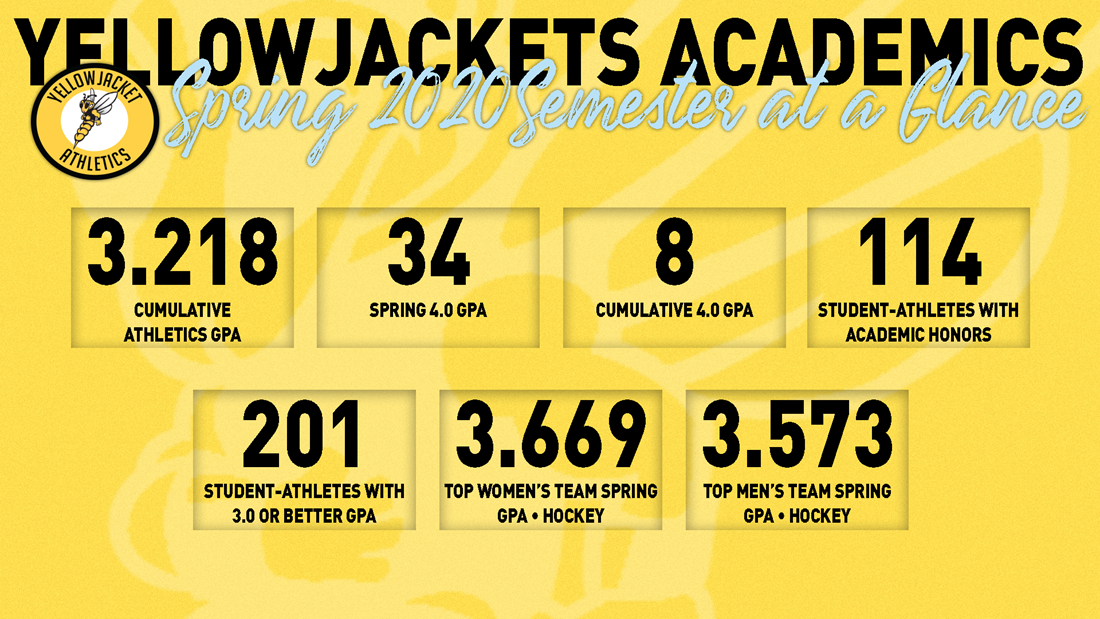 Yellowjackets Shine in Classroom in Spring Semester